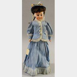 German Bisque Shoulder Head Doll