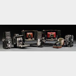 Collection of Six Medium Format Cameras