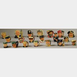 Twenty Assorted Royal Doulton Ceramic Character Jugs