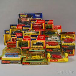 Twenty-seven Meccano Dinky Toys Die-cast Metal Vehicles
