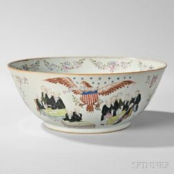 "Export Porcelain ""THE DECLARATION OF INDEPENDENCE"" Punch Bowl"