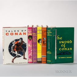 Howard, Robert E. (1906-1936) and L. Sprague de Camp (1907-2000) Conan,   Six First Edition Titles in Dust Jackets.