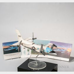 Curtis-Wright X-19 Production Aviation Model with Display Plinth