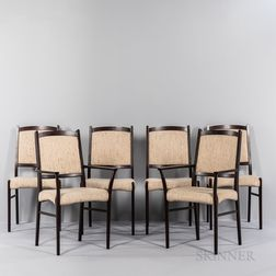 Six Rosewood Dining Chairs