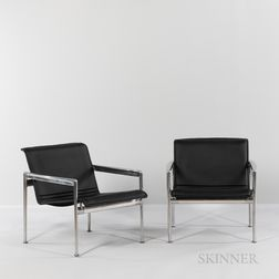 "Two Richard Schultz (American, b. 1930) for Knoll International ""Model 25L"" Lounge Chairs"