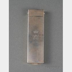 Continental .830 Silver Presentation Thermometer
