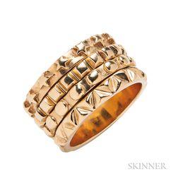 """18kt Gold """"24:7"""" Band Ring, Solange Azagury-Partridge"""