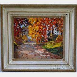 Charles Gordon Harris (American, 1891-1963)      Autumn Road