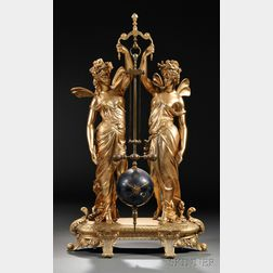 French Gilt Two-figure Mystery Clock