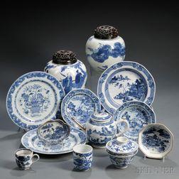 Fifteen Porcelain Items
