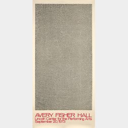 Sol LeWitt (American, 1928-2007)      Avery Fisher Hall, Lincoln Center for the Performing Arts, September 20, 1973