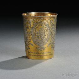 Bavarian Silver-gilt Emblem Beaker