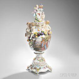 Dresden Porcelain Vase and Cover