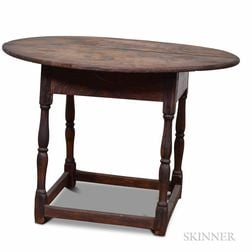 William and Mary Maple Oval-top Tea Table