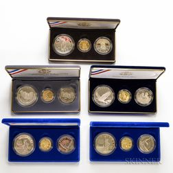 Five Three-coin Commemorative Sets