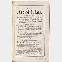 Haudicquer de Blancourt, Jean (b. 1650) The Art of Glass.