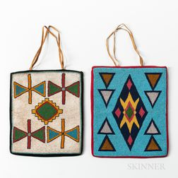 Two Plateau Beaded Cloth Bags