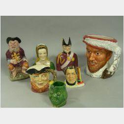 Seven Assorted Ceramic Character Jugs