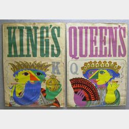 Pair of Bjorn Wiinblad King's   and Queen's   Posters