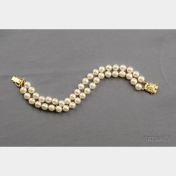 Cultured Pearl Bracelet, Mikimoto
