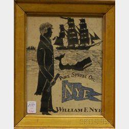 "American School, 19th Century      Illustration for ""NYE PURE SPERM OIL."""