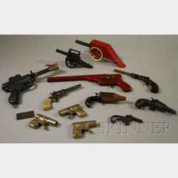 Group of Tin and Metal Toy Guns and Artillery
