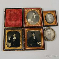 Five Daguerreotype Portraits of Gentlemen