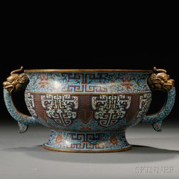 Cloisonne Censer with Two Handles
