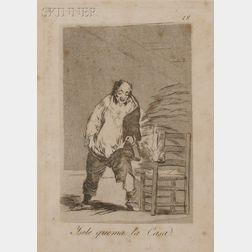 Francisco de Goya (Spanish, 1746-1828)      Yesele quema la Casa