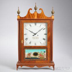 Elmer Stennes Pillar and Scroll Shelf Clock