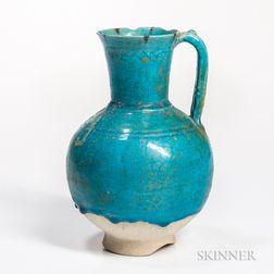 Kashan Turquoise-glazed Ewer