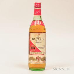 Bacardi 151, 1 4/5 quart bottle
