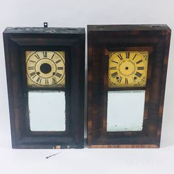 Two Ogee Shelf Clocks
