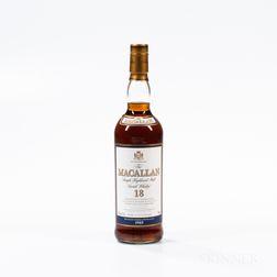 Macallan 18 Years Old, 1 750ml bottle