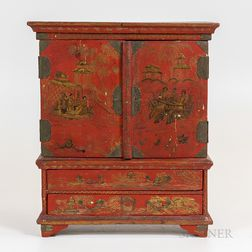 Diminutive Chinese Lacquerware Cabinet
