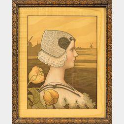 Paul Berthon (French, 1872-1909)      Sa Tres Gracieuse Majeste La Reine Wilhelmine