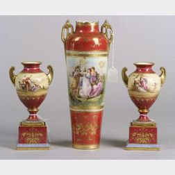 Three Vienna Porcelain Vases