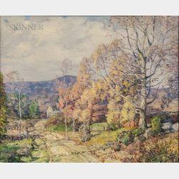 William Jurian Kaula (American, 1871-1953)      Autumn in Wilton