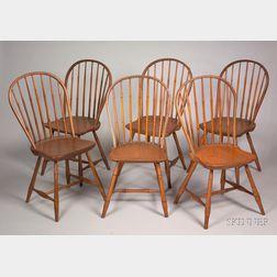Set of Nine Windsor Bow-back Side Chairs