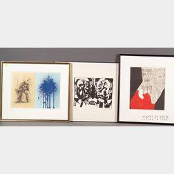 Lot of Three Prints      Karl Otto Knaths (American 1891-1971), Double Self Portrait (ca. 1955)