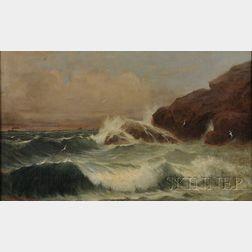 James Harvey Young (Massachusetts, 1830-1918)      Coastal Scene.
