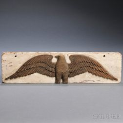Relief-carved Wooden Eagle Plaque