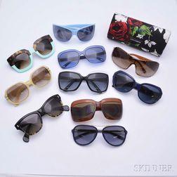 Ten Vintage Designer Sunglasses