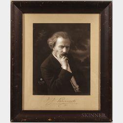 Paderewski, Ignacy Jan (1860-1941) Signed Photograph.