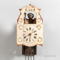 "German Quarter-striking ""Jacks and Bell"" Automaton Wall Clock"