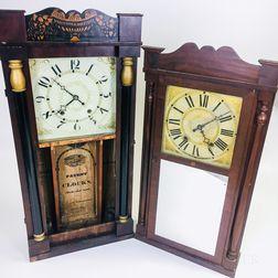 Two Split-column Shelf Clocks