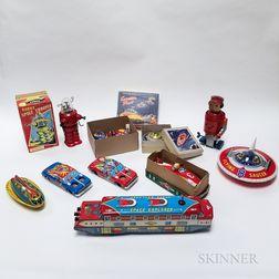 Ten Space Themed Tin Toys