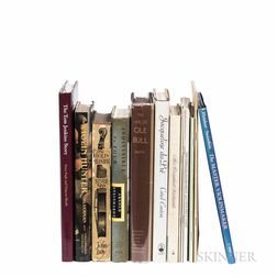 Books and Catalogs on Violins and Violinists