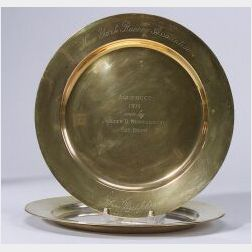 Three New York Racing Association Sterling Trophy Plates