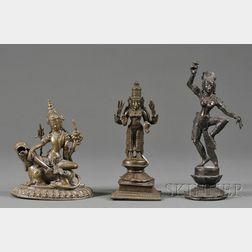Three Bronze Divinities